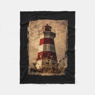 Brier Island Western Lighthouse Fleece Blanket