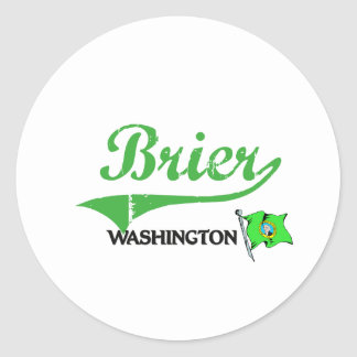 Brier Washington City Classic Classic Round Sticker