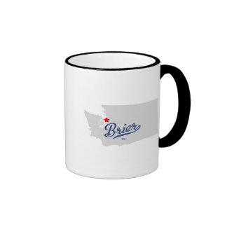 Brier Washington WA Shirt Ringer Coffee Mug