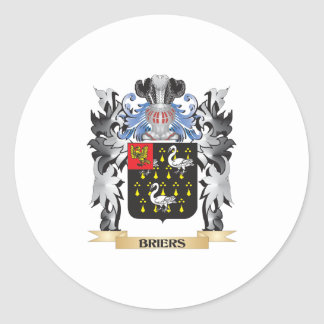 Briers Coat of Arms - Family Crest Classic Round Sticker