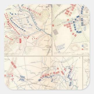 Brigada de Cav, cedro Mtn, Manassas, encierro Calcomania Cuadrada Personalizada