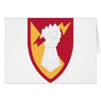Brigada de la artillería de la defensa aérea 38 tarjeta de felicitación