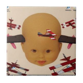 Brigada del aire del bebé del Cyborg Azulejo Cuadrado Pequeño