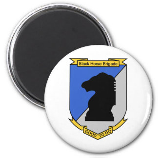 Brigada del caballo del negro de la fuerza de defe imanes para frigoríficos
