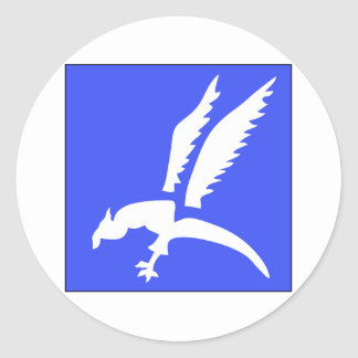 Brigada polaca del paracaídas etiquetas redondas