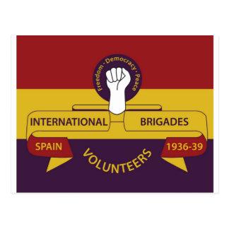 Brigadas internacionales tarjeta postal
