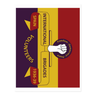 Brigadas internacionales tarjetas postales
