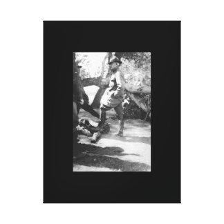 Brigade Headquarters near Casas Grandes_War Image Canvas Print