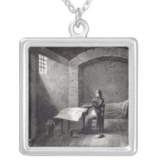 Brigadier-General Bonaparte in prison Silver Plated Necklace
