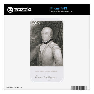 Brigadier General Daniel Morgan (1736-1802) engrav Decal For iPhone 4