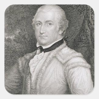 Brigadier General Daniel Morgan (1736-1802) engrav Square Sticker