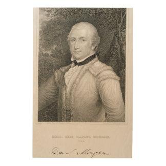 Brigadier General Daniel Morgan (1736-1802) engrav Wood Print