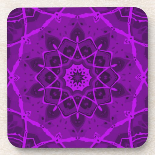 Brigadoon Purple Kaleidoscope Beverage Coaster