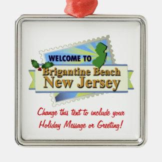 Brigantine Beach NJ Metal Ornament