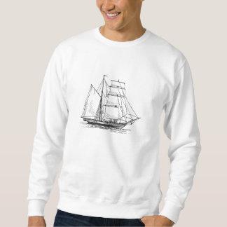 Brigantine Sailing Ship Pullover Sweatshirt