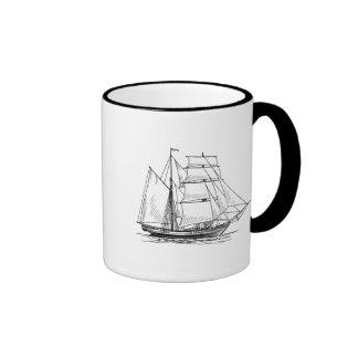 Brigantine Sailing Ship Ringer Mug