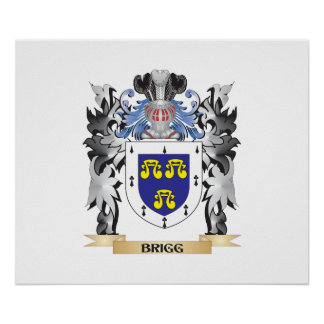Brigg Coat of Arms - Family Crest Poster
