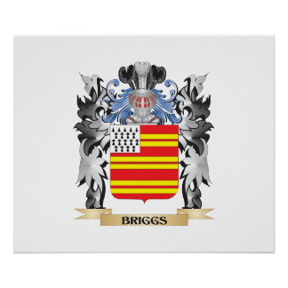 Briggs Coat of Arms - Family Crest Poster