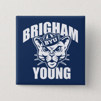 Brigham Young Cougar Button