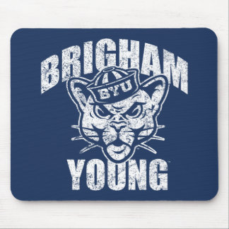 Brigham Young Cougar | Distressed Mouse Pad