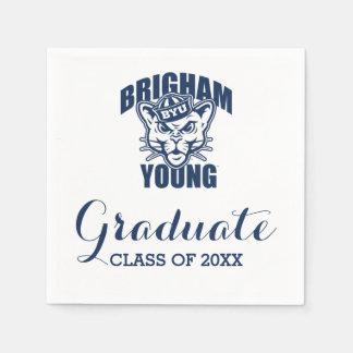 Brigham Young Cougar Graduation Class Of Napkin