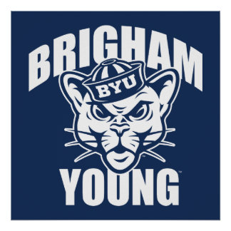 Brigham Young Cougar Poster