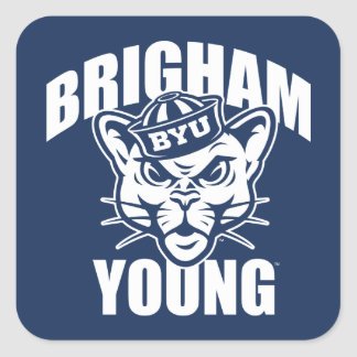 Brigham Young Cougar Square Sticker