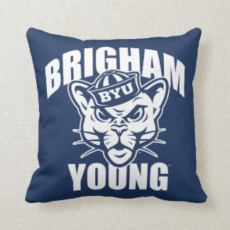 Brigham Young Cougar Throw Pillow
