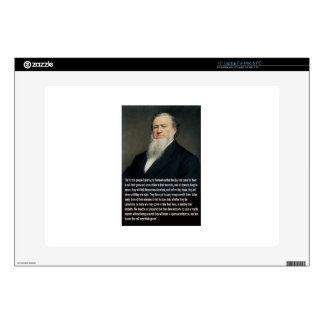 Brigham Young on Guns Decal For Laptop