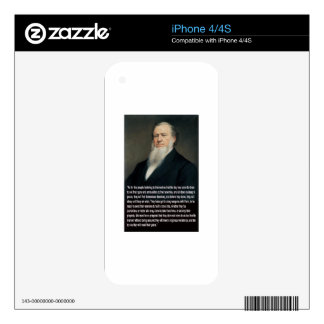 Brigham Young on Guns Decal For The iPhone 4