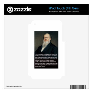 Brigham Young on Guns Decals For iPod Touch 4G