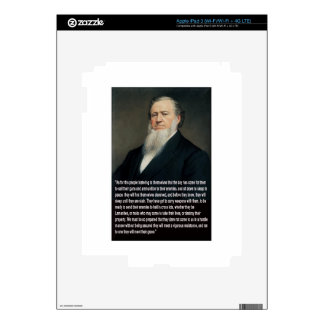 Brigham Young on Guns Skin For iPad 3