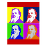 Brigham Young Pop Art Postcard