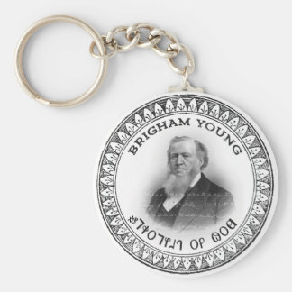 Brigham Young Prophet of God Collector Edition! Basic Round Button Keychain