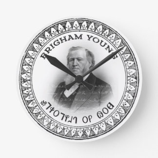 Brigham Young Prophet of God Collector Edition! Round Clock