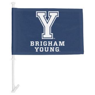 Brigham Young Y Car Flag