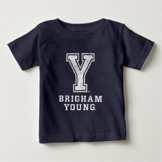 Brigham Young Y | Distressed Baby T-Shirt