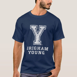 Brigham Young Y | Distressed T-Shirt