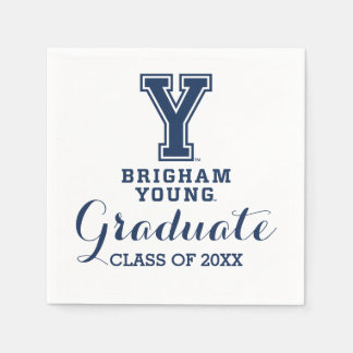 Brigham Young Y Graduation Class Of Paper Napkin