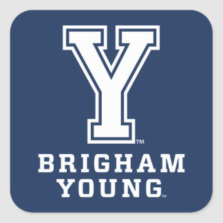 Brigham Young Y Square Sticker