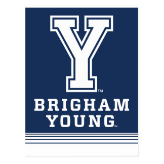 Brigham Young Y | Stripes Postcard