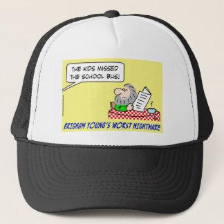 brigham youngs worst nightmare mormonism trucker hat