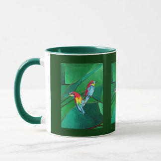 Brighly Colored European Bee-eaters Mug