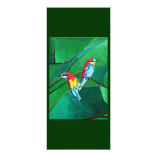 Brighly Colored European Bee-eaters Rack Card