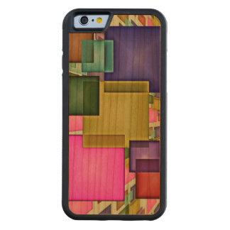 Bright 3-D Geometric Abstract Carved® Cherry iPhone 6 Bumper Case