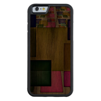 Bright 3-D Geometric Abstract Carved® Walnut iPhone 6 Bumper Case