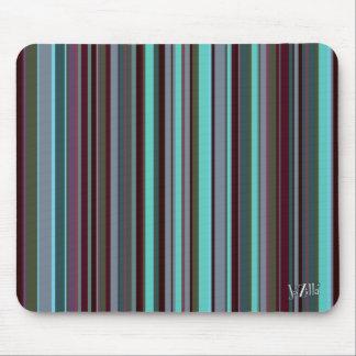 Bright 60s Retro Stripes Mouse Pad