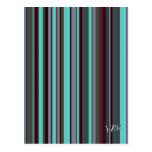 Bright 60s Retro Stripes Postcard
