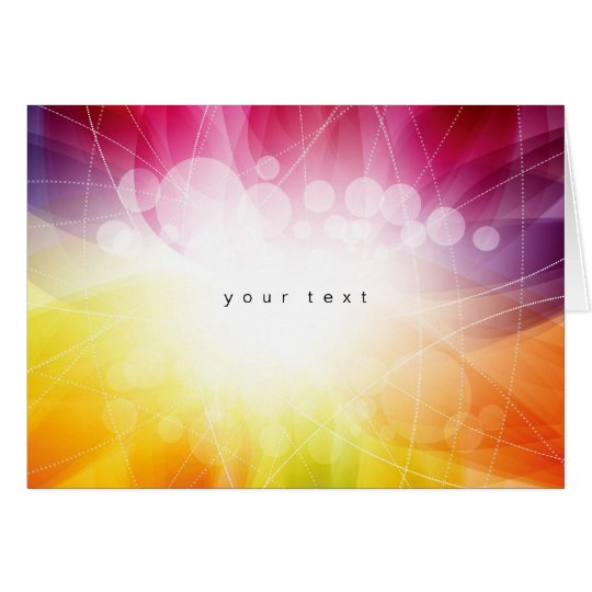 Bright abstract card