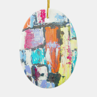 Bright Abstract Ceramic Ornament